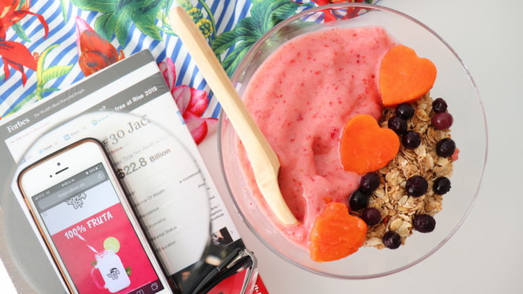 Smoothie Saludable con fruta congelada